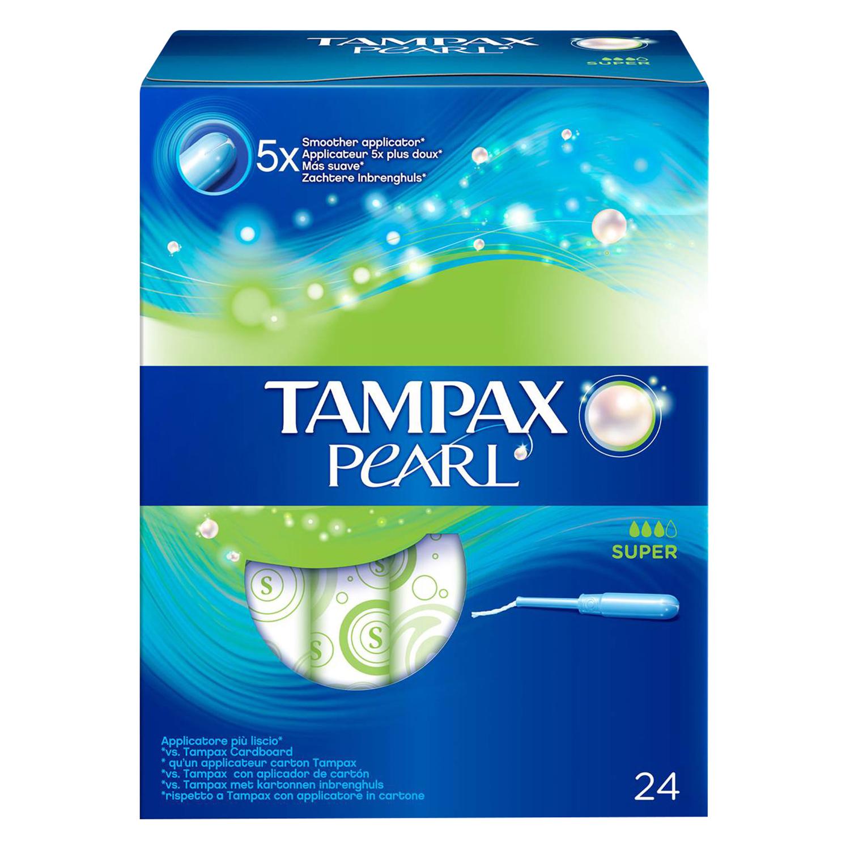 Tampones Pearl super Tampax 24 ud.