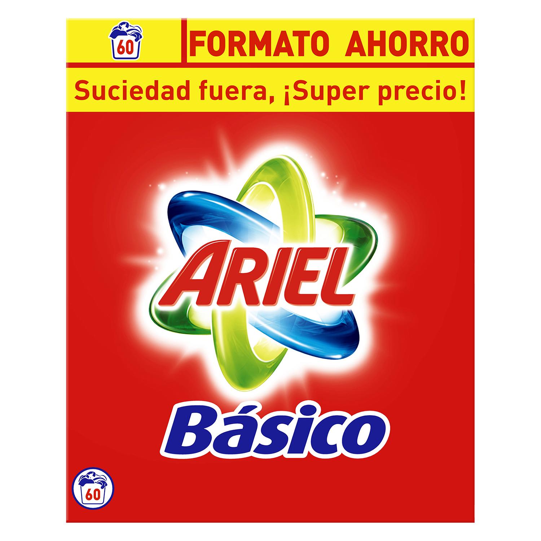 Detergente en polvo Ariel 60 lavados.