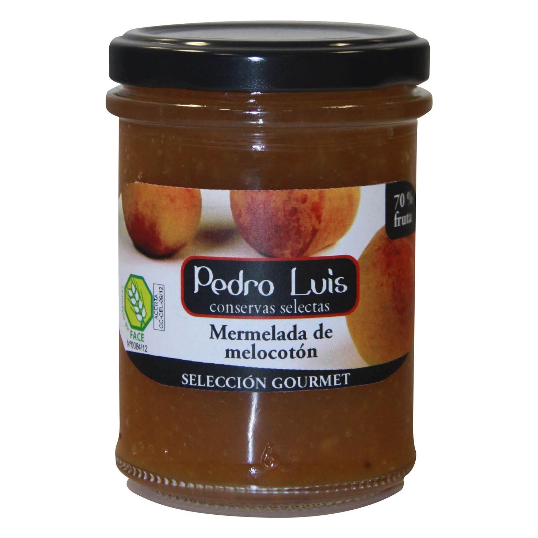 Mermelada de melocotón Pedro Luis sin gluten 220 g.