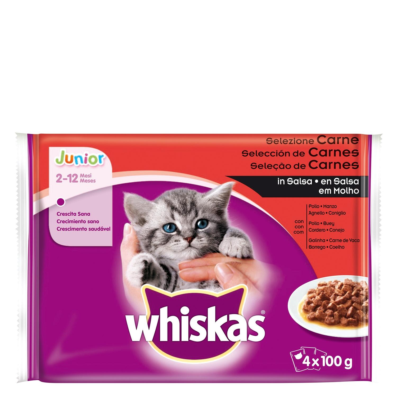 New Generation Whiskas Junior Carnes 4x100gr