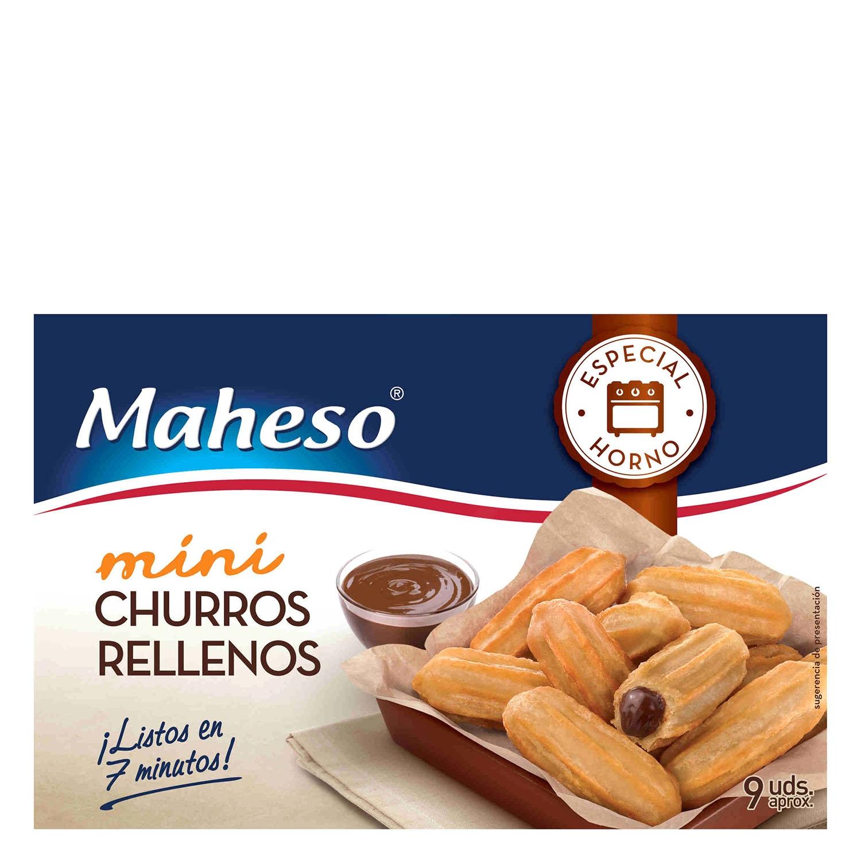 Churros mini rellenos especial horno Maheso 170 g.