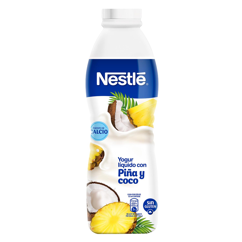 Yogur líquido con piña y coco Nestlé sin gluten 750 ml.