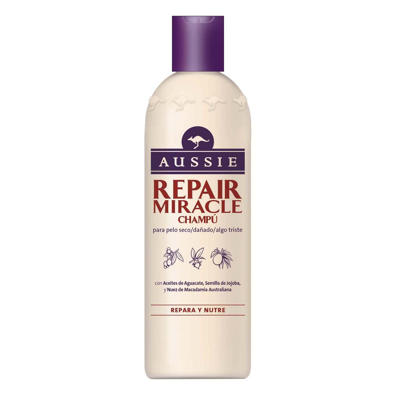 Champú Repair Miracle para pelo seco y dañado Aussie 300 ml.