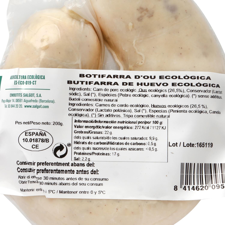 Butifarra de huevo ecológica - 2