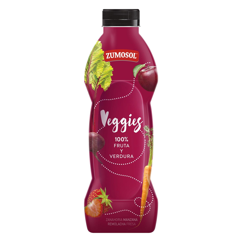 Zumo de zanahoria, manzana, remolacha y fresa Zumosol - Veggies botella 75 cl.
