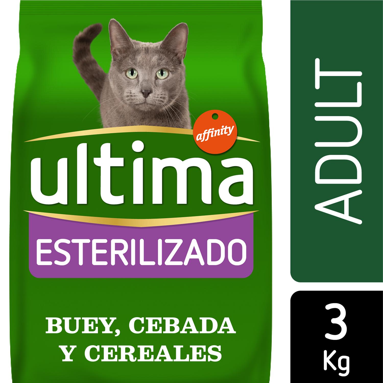 Ultima Pienso para Gato Adulto Esterilizado Sabor buey 3kg. -