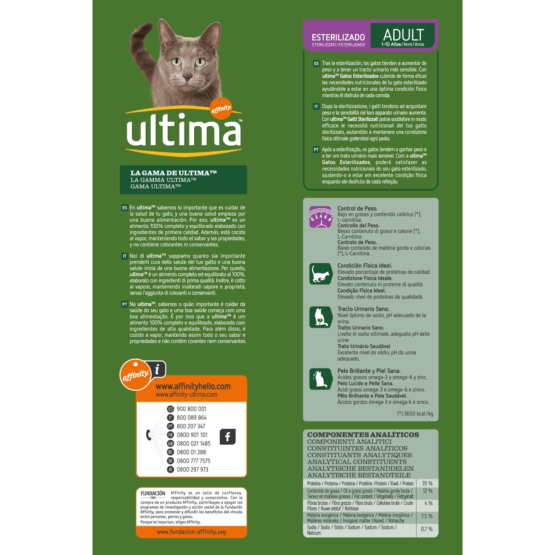 Ultima Pienso para Gato Adulto Esterilizado Sabor buey 3kg. - 2