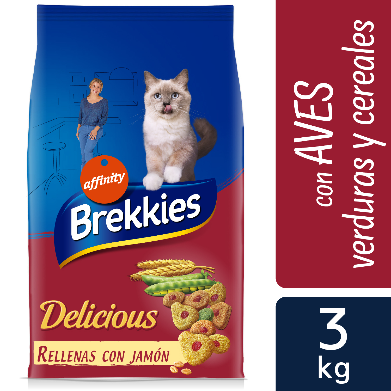 Brekkies Pienso para Gato Delicious aves 3 Kg
