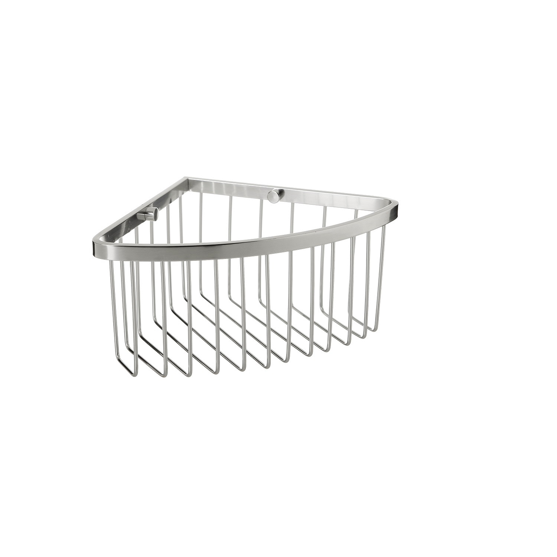 Cestillo de baño de Aluminio 20cm Metalizado