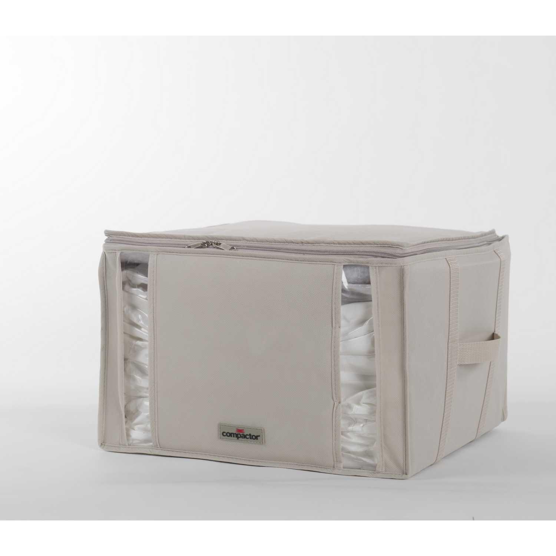 Funda para la ropa de Plástico COMPACTOR 40 x 42 x 24 cm - Beige