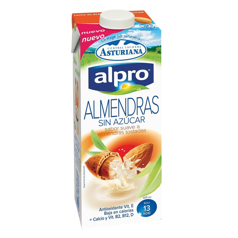 Bebida de almendras Alpro - Central Lechera Asturiana sin azúcar brik 1 l.