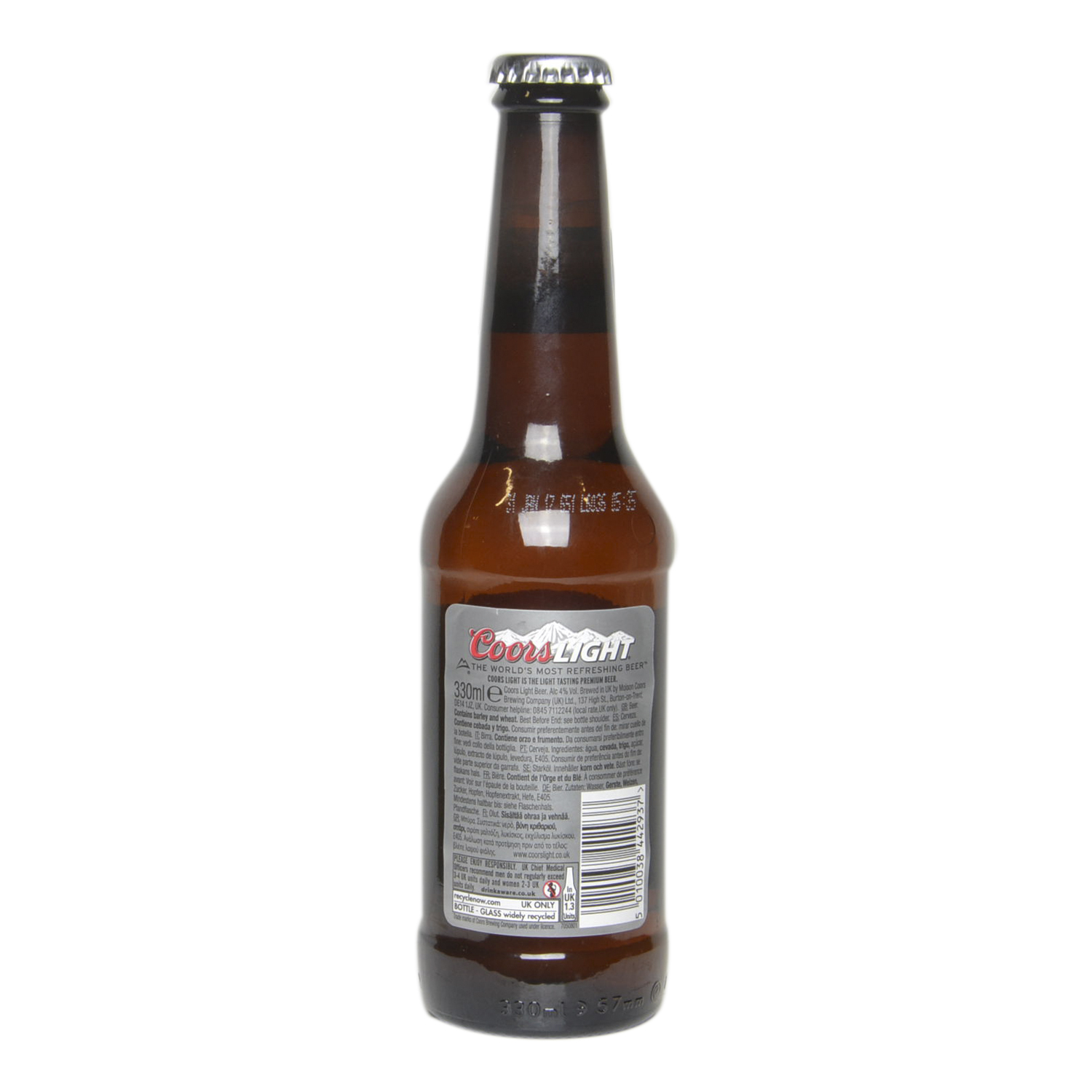 Cerveza Coors light botella 33 cl. -