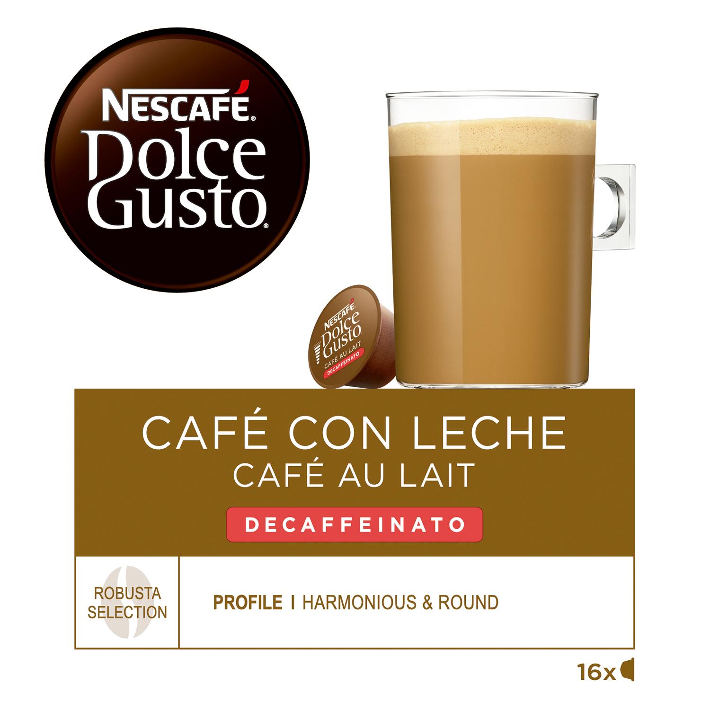 Café con leche descafeinado en cápsulas Nescafé Dolce Gusto 16 unidades de 10 g. -