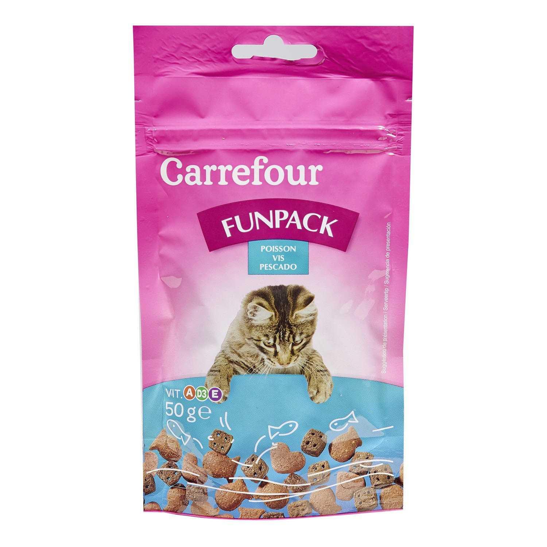 Carrefour Snacks para Gatos de Pescado 50 g