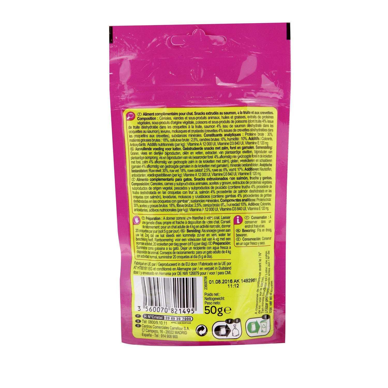Carrefour Snacks para Gatos de Pescado 50 g -