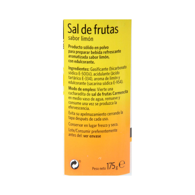Sal de frutas Carmencita sabor limón 175 g. -