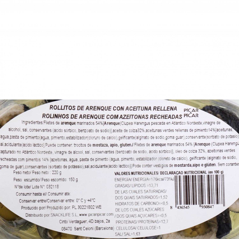 Rollitos de Arenque con aceituna rellena 220 g - 3