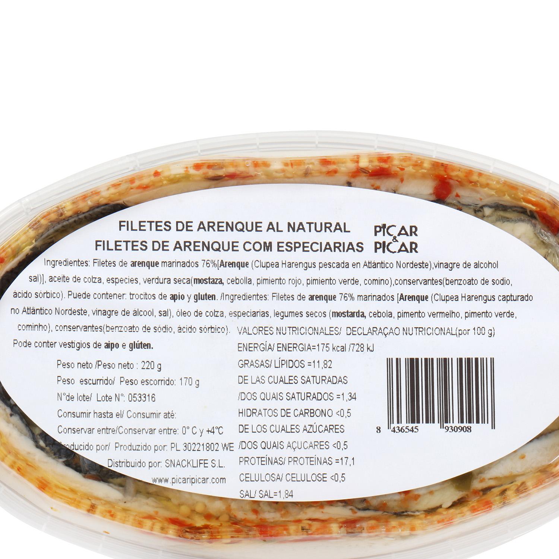 Filetes arenque natural  -