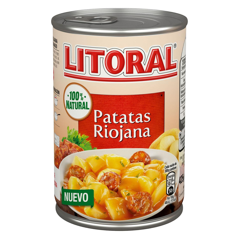Patatas riojana 100% natural Litoral 425 g.
