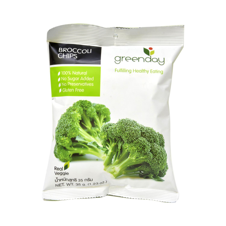 Aperitivo de brócoli Greenday sin gluten 35 g.