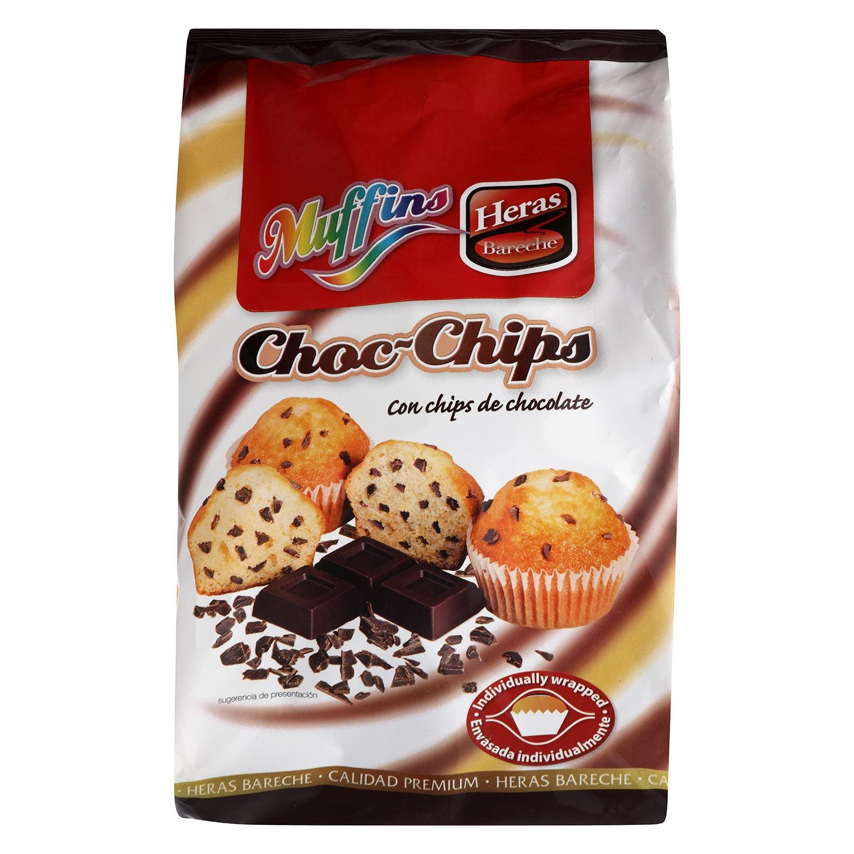 Magdalenas Muffins con pepitas de chocolate Heras 256 g.