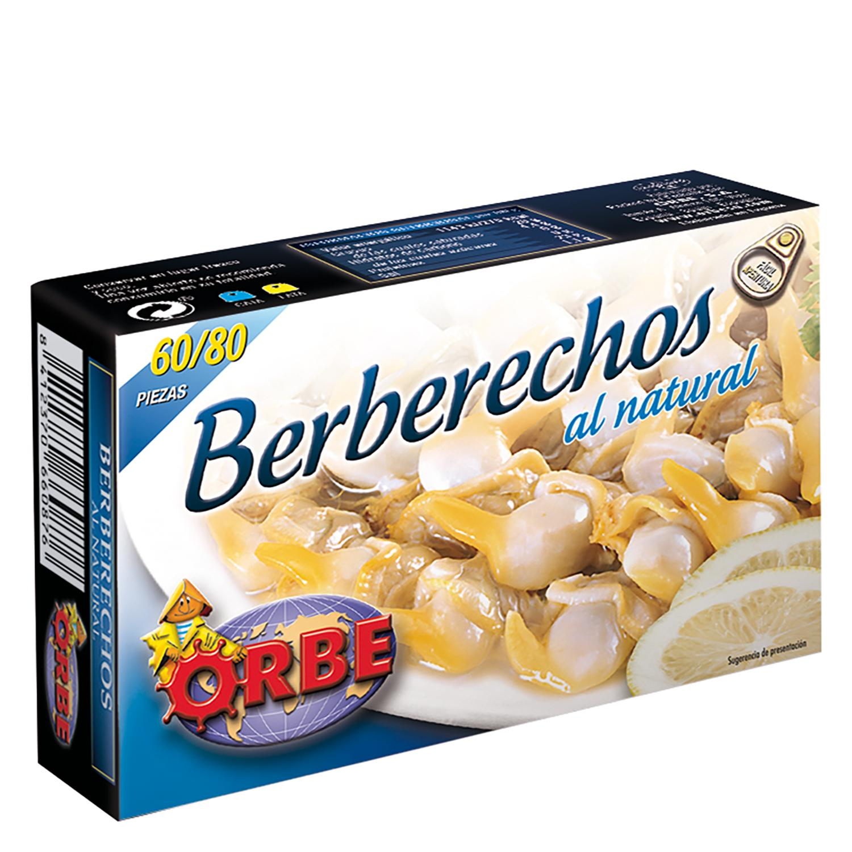 Berberechos al natural Orbe 63 g.