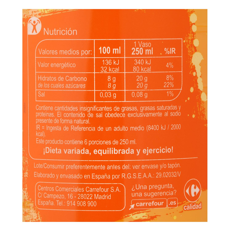 Agua mineral Carrefour con zumo de naranja 1,5 l. - 2