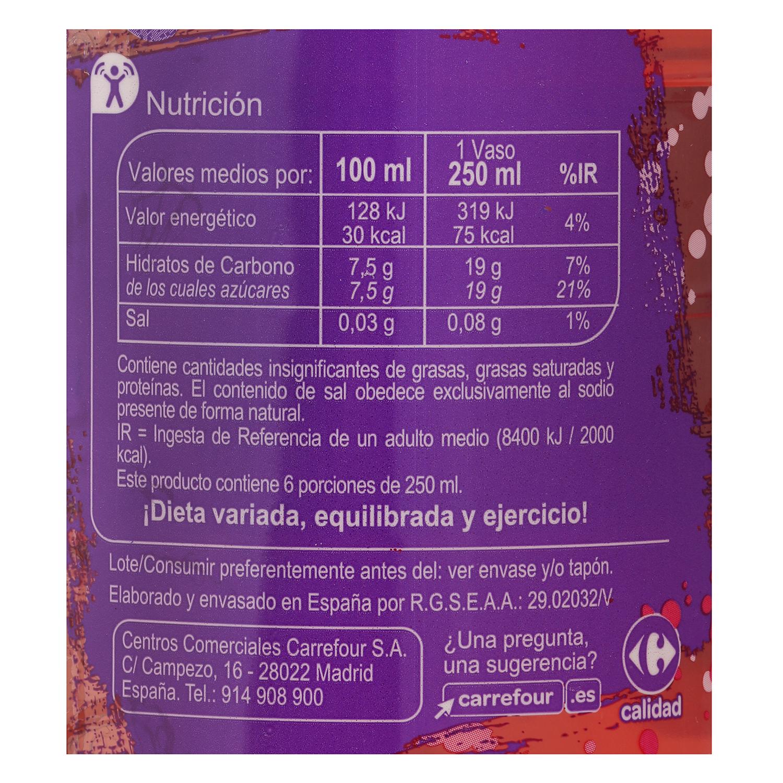 Agua mineral Carrefour con zumo de frutas del bosque 1,5 l. - 2