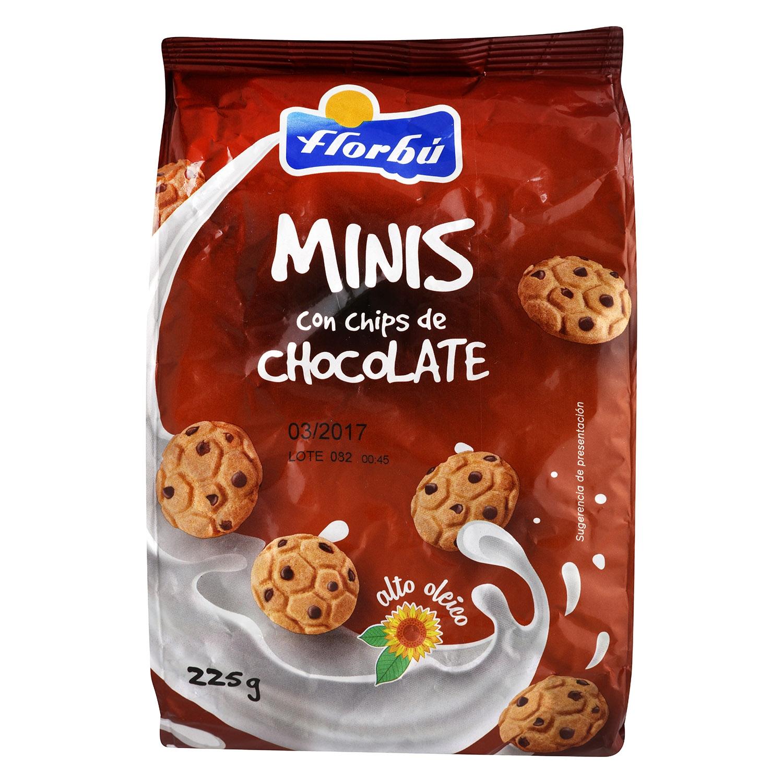 Minis con chips de chocolate