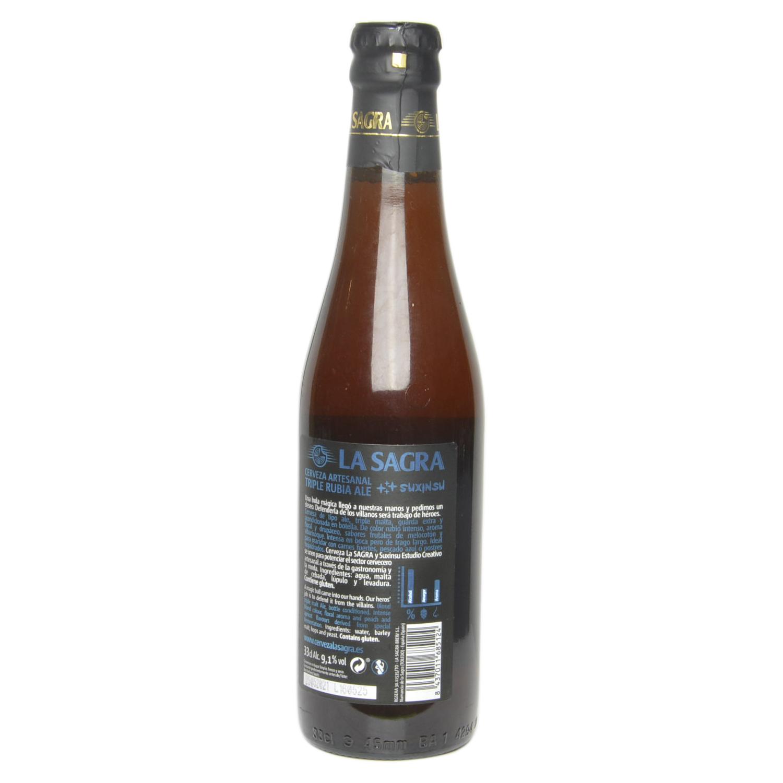 Cerveza artesana La Sagra Suxinsu Triple Rubia Ale botella  33 cl. -