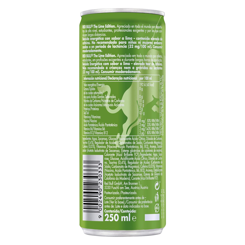 Bebida energética Red Bull The Lime Edition sabor lima 25 cl. - 2
