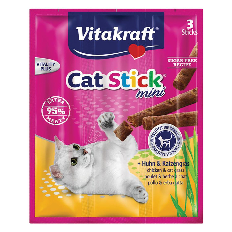 Stick para Gato Vitakraft Mini Pollo con Hierba Gatera 18 gr -