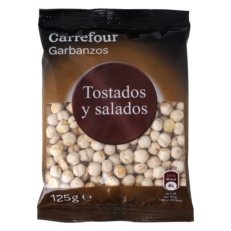 Garbanzos tostados y salados Carrefour 125 g.