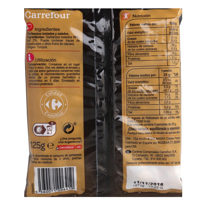 Garbanzos tostados y salados Carrefour 125 g. -
