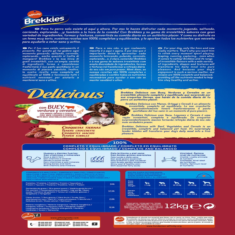 Brekkies Pienso para Perros  Delicious buey 12 Kg - 2
