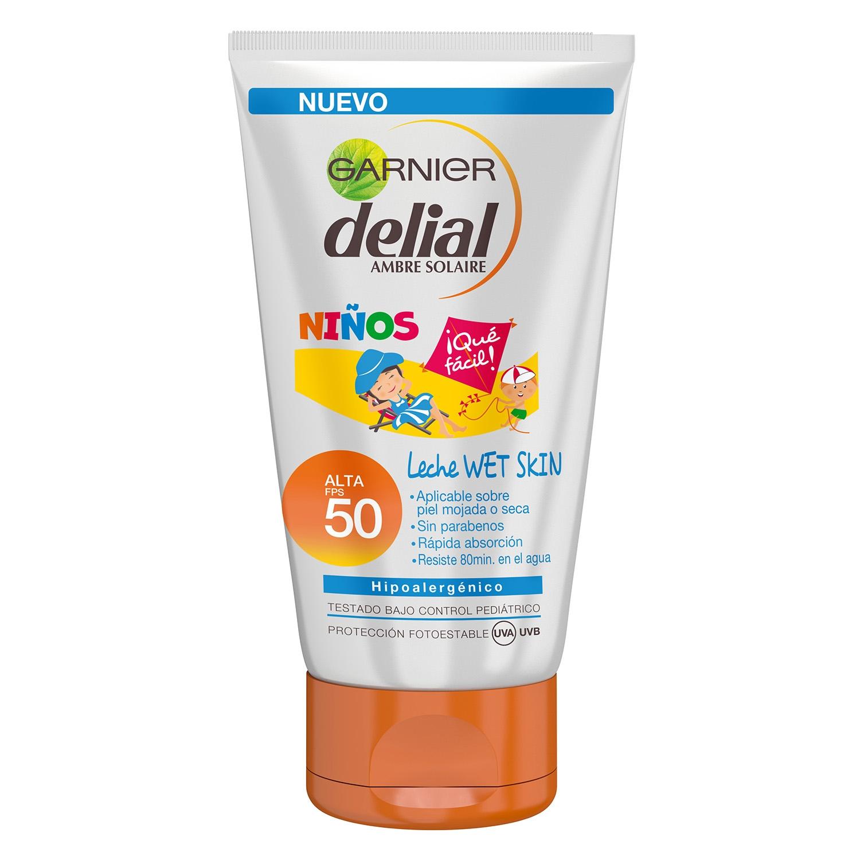 Leche Wet Skin solar para niños FP 50 Delial - Carrefour ...