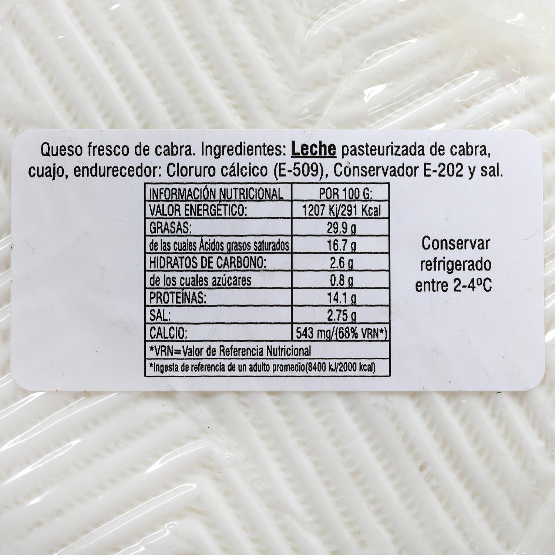 Queso cabra blanca tradicional Cabrelx 400 g -