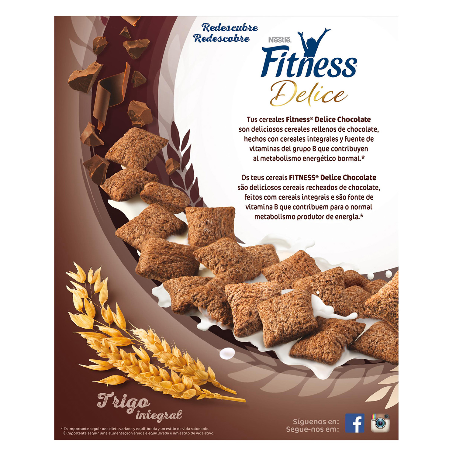 Cereales integrales con chocolate Fitness Nestlé 350 g. - 3