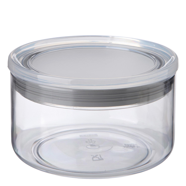 Bote Conserva de Plástico 0,5 L.  Transparente