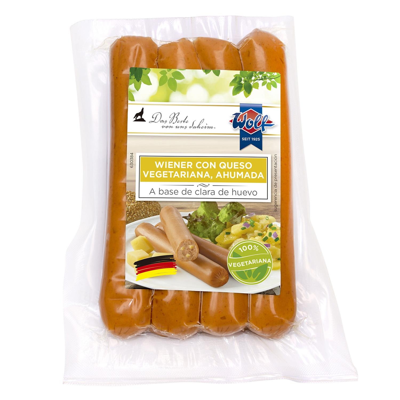 Salchichas vegetariana Wiener con queso