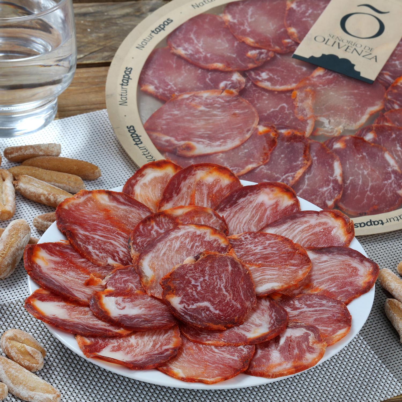 Lomo ibérico de cebo de campo loncheado Señorío de Olivenza plato 90 g -
