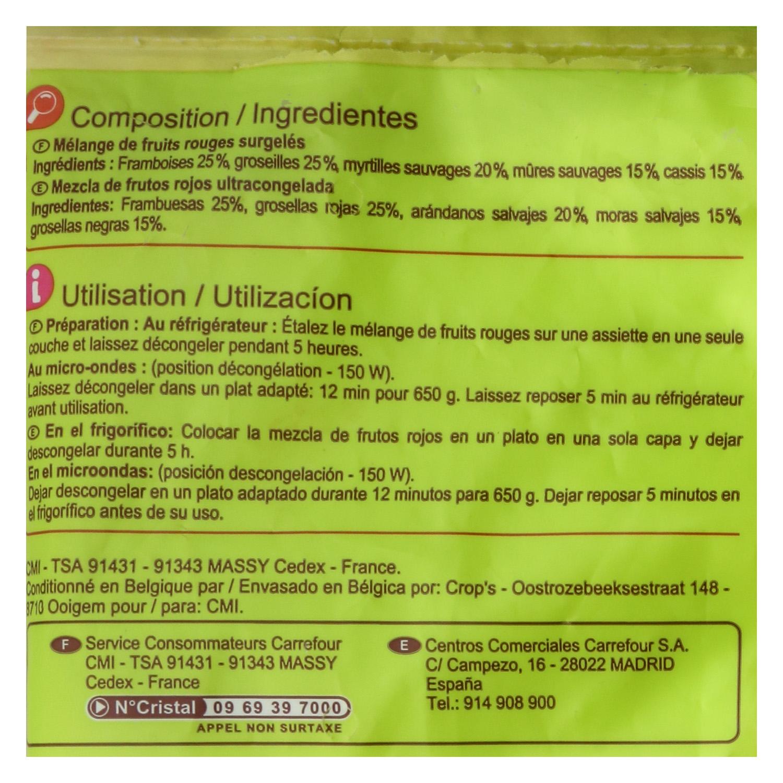 Mezcla de frutos rojos Carrefour 650 g. - 2