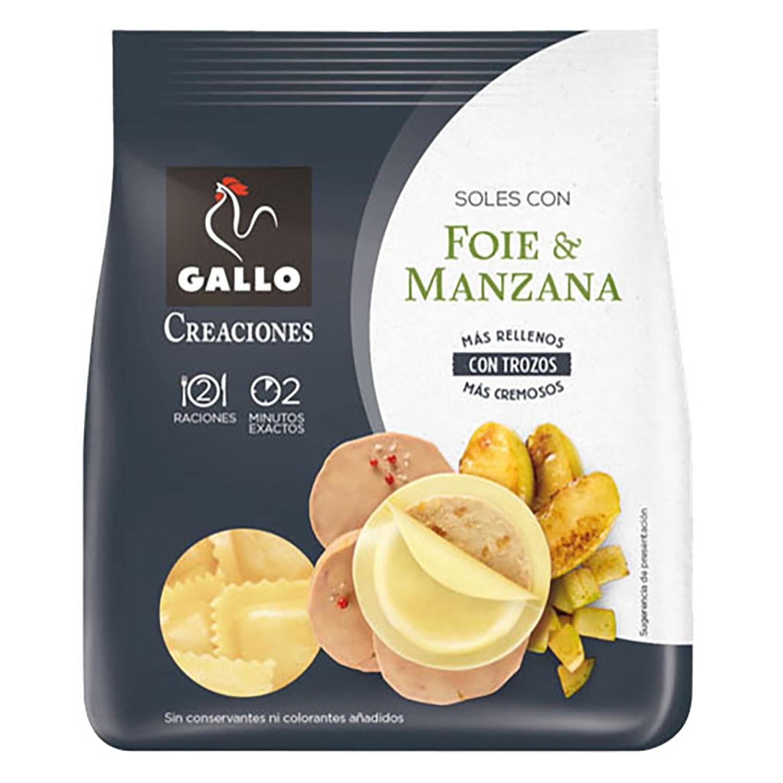 Soles con foie y manzana Gallo 250 g.