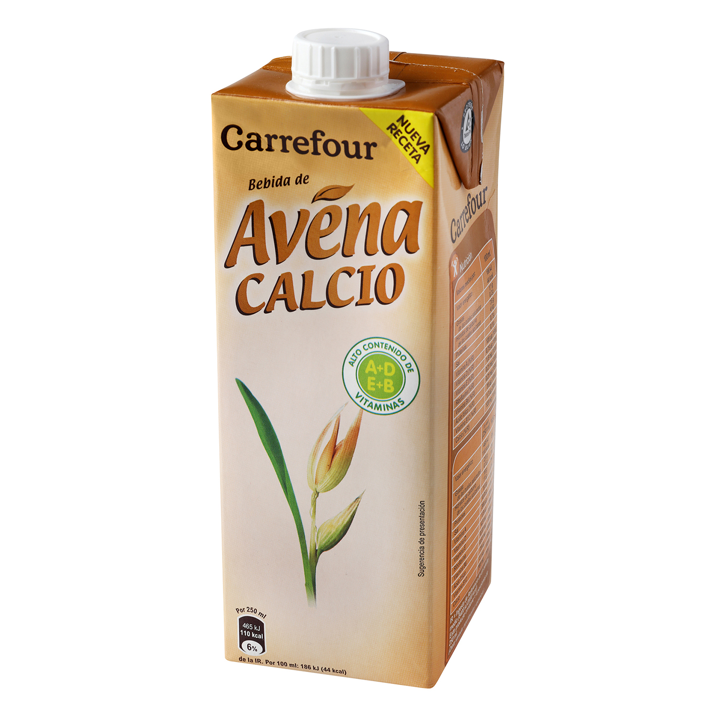 Bebida de avena Carrefour con calcio brik 1 l.