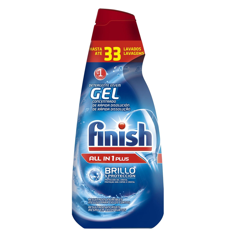 Lavavajillas máquina Todo en 1 en gel Finish 33 lavados.