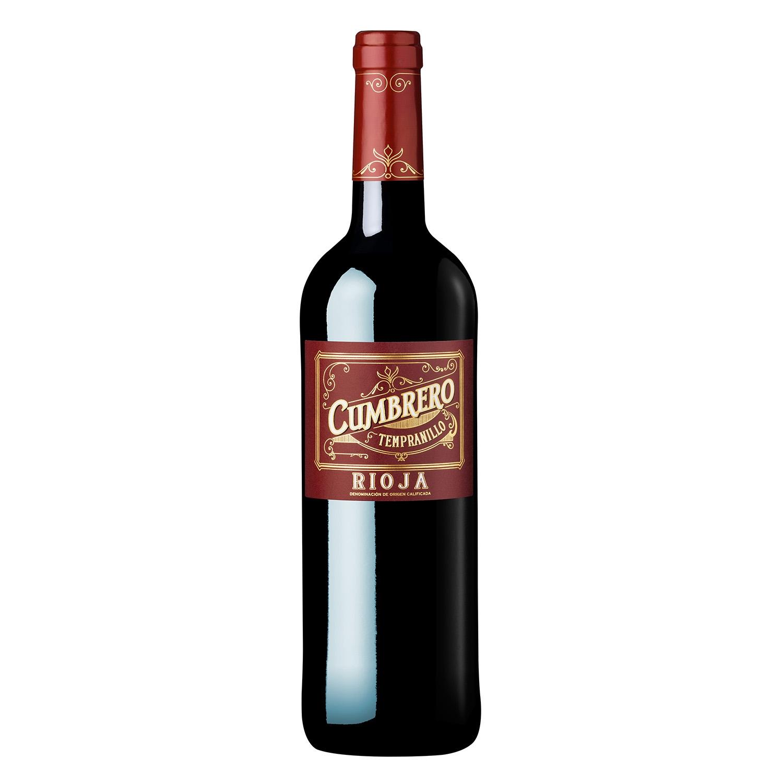 Vino D.O. Rioja tinto crianza tempranillo Cumbrero 75 cl.