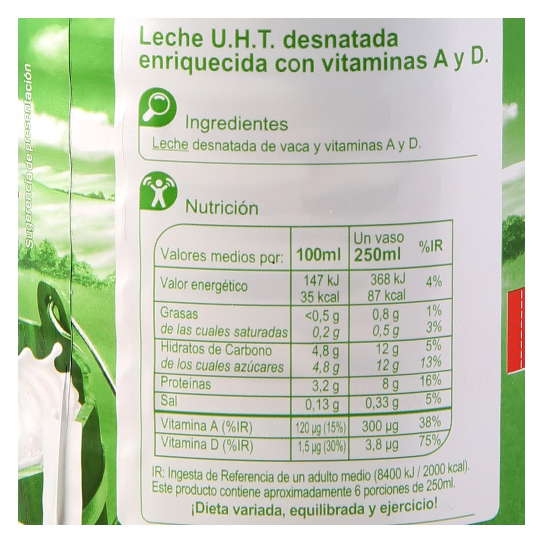Leche desnatada Carrefour botella 1,5 l. - 2