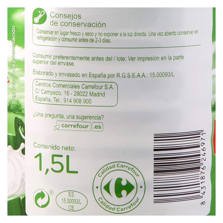 Leche desnatada Carrefour botella 1,5 l. - 3