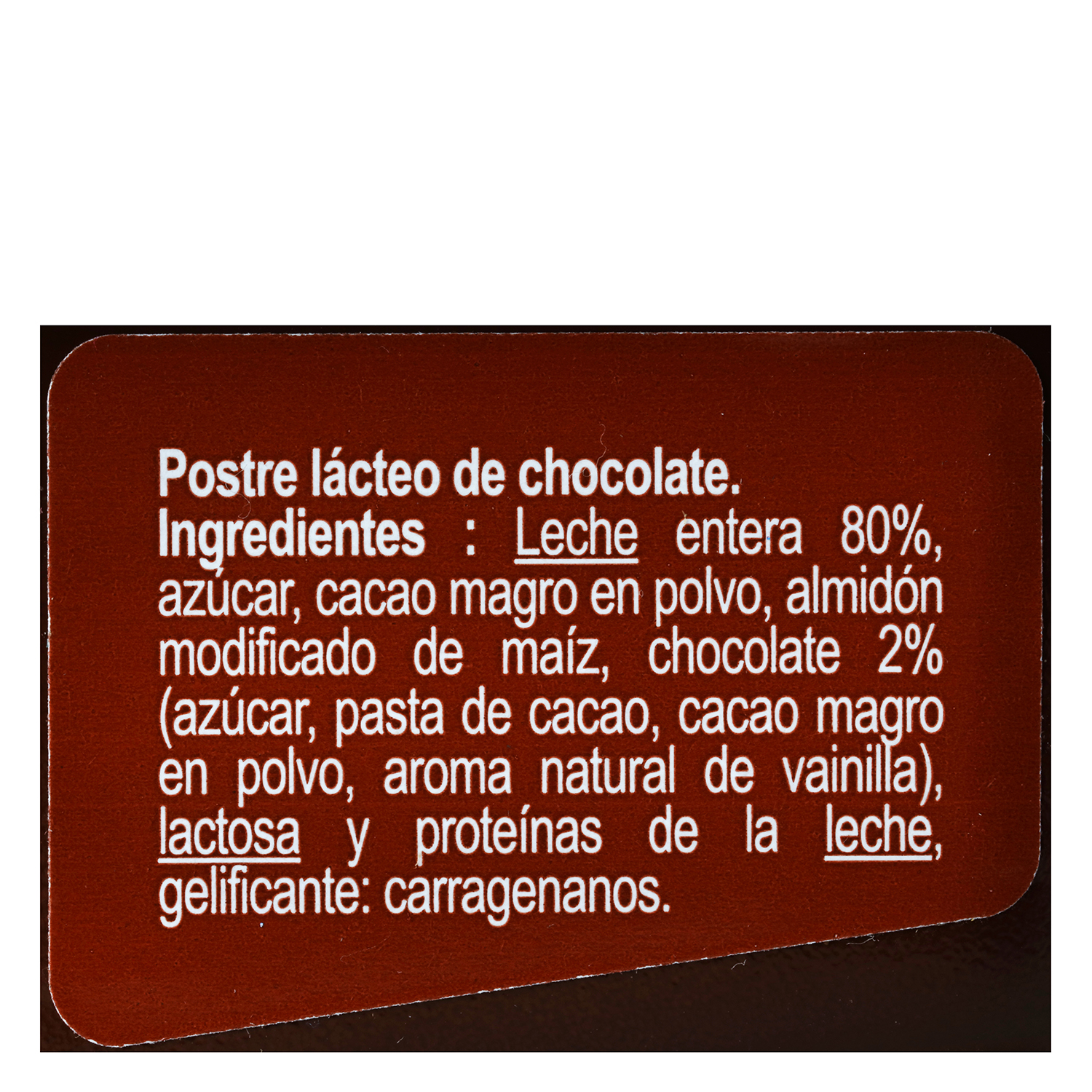 Natillas de chocolate Carrefour pack de 4 unidades de 125 g. -