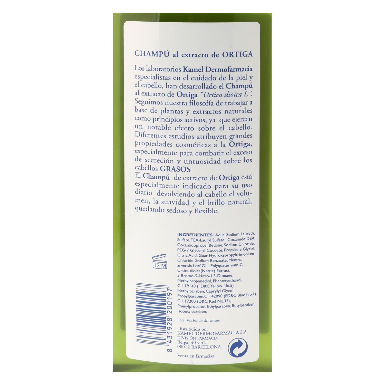 Champú extracto de ortiga para cabello graso -